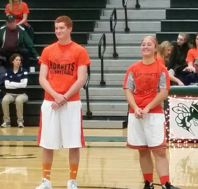 The Type 1 Basketball Players being recognized.